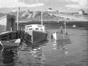 Harry Leith-Ross (1886-1973) : Nova Scotia cove ca.1923.