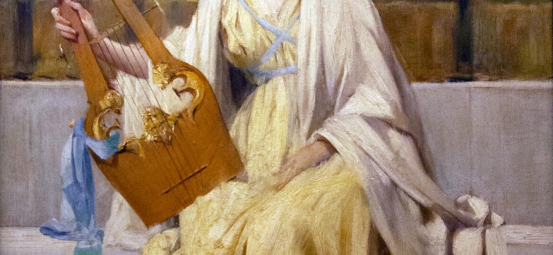 Francis Coates Jones (1857-1932) : Woman with lyre, ca.1880s.