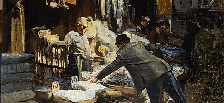 Gerard Allen Knipscher (b.1935) : Market, 1978.