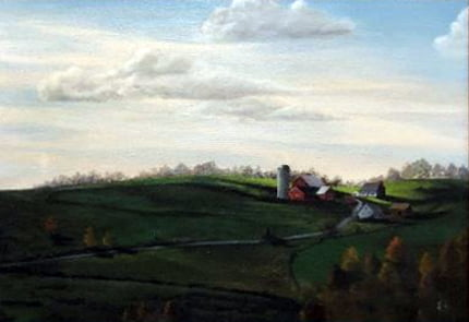 """Otis """"Ozzie"""" Alfred Arnts (1919-2013) : Farm in Colts Neck (#3), 1984."""