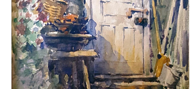 Albert Herrmann Sonn (1869-1936) : [untitled, country door], ca.1921.