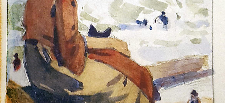 Edward Henry Potthast (1857-1927) : [woman by shore], ca.1919.