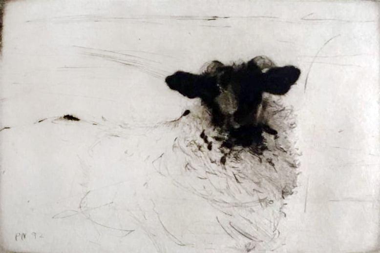 Paul Wallace Niemiec Jr (b.1948) : Study winter hill no.7, 1992.