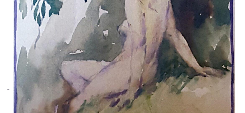 Warren Burnham Davis (1865-1928) : [female nude figure], ca.1920.