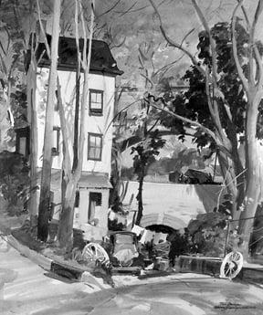 Warren William Baumgartner (1894-1963) : Two bridges, ca.1950s.