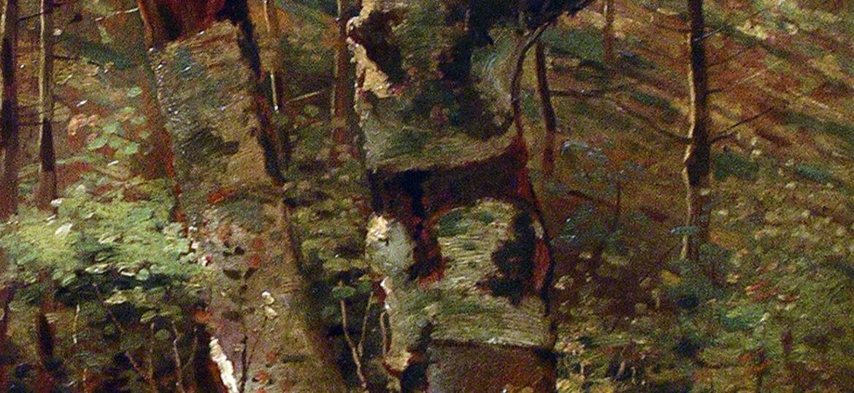Vincent La Gambina (1909-1994) : Birch trees, ca.1949.