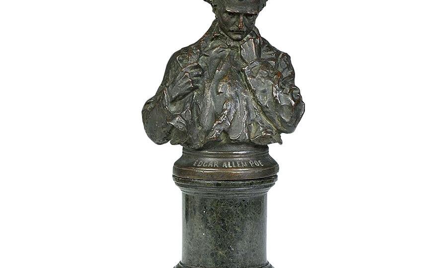 George Julian Zolnay (1863-1949) : Portrait of Edgar Allen Poe (1809-1849), 1898.