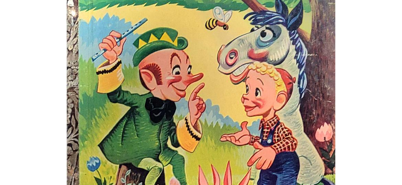 """William Britton """"Bil"""" Baird (1904-1987) : Bil Baird's Whistling Wizard children's book, 1952."""