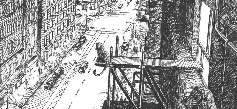 Zachary Schrage : Feline after hours (#2), ca.2021.