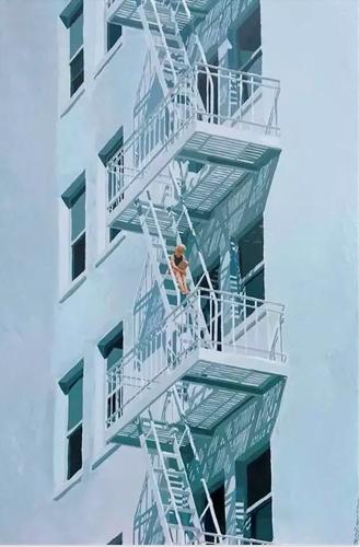 Keith Thomson : Fire escapist (#65), ca.2021.