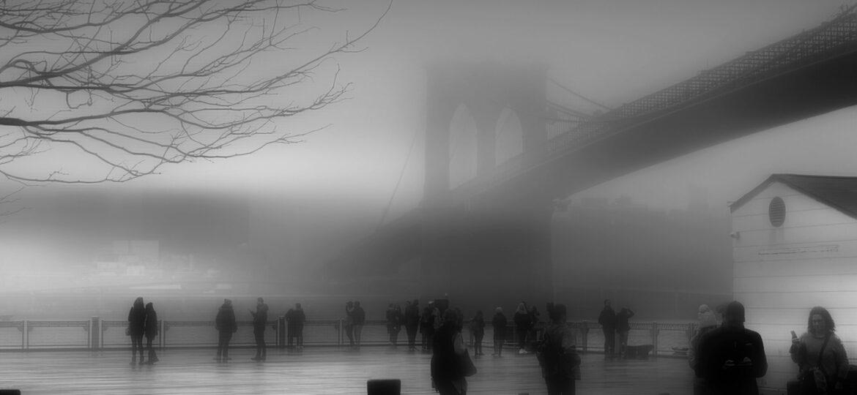 Jeff Watts : Fulton landing fog (#79), ca.2021.