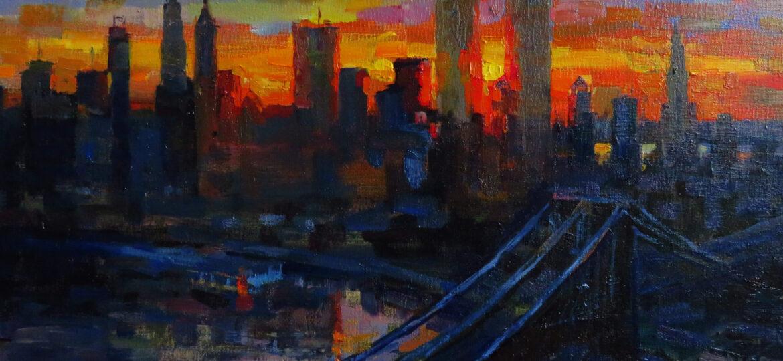 Christopher Zhang : Manhattan sunset (#51), ca.2021.