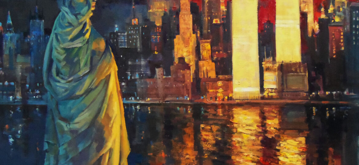 Christopher Zhang : Statue of the Liberty - the night before 9/11 (#123), ca.2021.