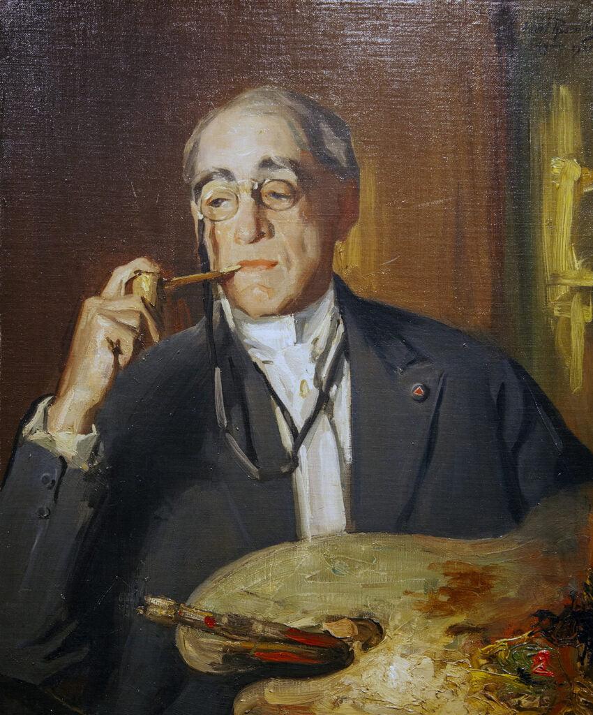 Albert Rosenthal (1863-1939) [RA 1914-1939] : Portrait of John Carleton Wiggins, 1920.