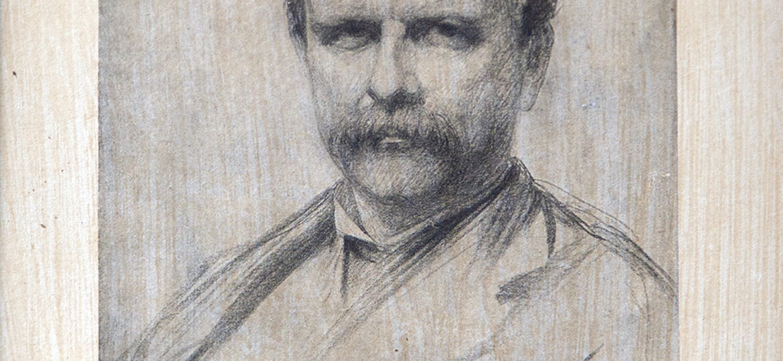 Charles Yardley Turner (1850-1919) [HRA 1872-1919] : Copy after portrait of Frederick Stuart Church (1842-1924) [RA 1871-1924], 1888.
